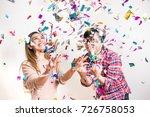 asian people having fun in... | Shutterstock . vector #726758053