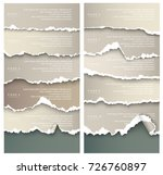 set of design elements gray... | Shutterstock .eps vector #726760897