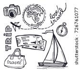 hand drawn doodle travel... | Shutterstock .eps vector #726761077