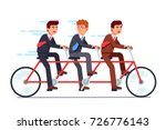 business people group riding... | Shutterstock .eps vector #726776143
