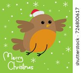 christmas greeting card with... | Shutterstock .eps vector #726800617