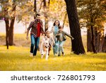 happy family with two children... | Shutterstock . vector #726801793