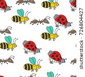 colorful ladybug  bee  ant... | Shutterstock .eps vector #726804427