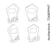 vector set of outline... | Shutterstock .eps vector #726809947
