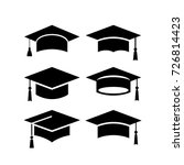 set of academical hat vector... | Shutterstock .eps vector #726814423