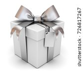 gift box or present box with... | Shutterstock . vector #726817267