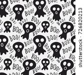 seamless pattern with spooky... | Shutterstock .eps vector #726820213