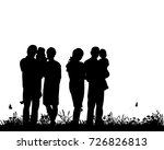 silhouette of family | Shutterstock .eps vector #726826813