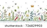 horizontal seamless abstract... | Shutterstock .eps vector #726829903