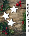 christmas cookies and... | Shutterstock . vector #726835027