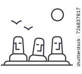 monolith megalith vector line... | Shutterstock .eps vector #726837817