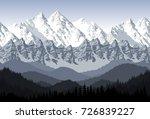 seamless vector blue beautiful... | Shutterstock .eps vector #726839227