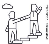 mentor helping mentoring... | Shutterstock .eps vector #726839263