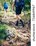 close up of people hiking | Shutterstock . vector #726849967