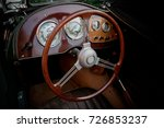 old car steering wheel   Shutterstock . vector #726853237