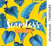 bright tropical seamless... | Shutterstock .eps vector #726854683