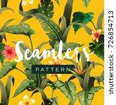 bright tropical seamless... | Shutterstock .eps vector #726854713