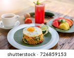 fried rice nasi goreng with... | Shutterstock . vector #726859153