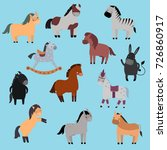 different horses breed vector...   Shutterstock .eps vector #726860917