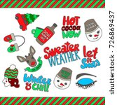 set of winter themed patches.... | Shutterstock .eps vector #726869437
