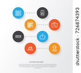 travel icons set. collection of ... | Shutterstock .eps vector #726874393
