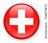 switzerland flag vector round...   Shutterstock .eps vector #726874873