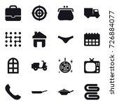 16 vector icon set   portfolio  ... | Shutterstock .eps vector #726884077