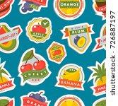 fruits logo badges template... | Shutterstock .eps vector #726887197