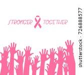 breast cancer awareness hand... | Shutterstock .eps vector #726888577