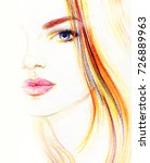 young beautiful woman.... | Shutterstock . vector #726889963