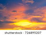 cloud with colorful sky at... | Shutterstock . vector #726895207