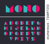geometric font. alphabet with... | Shutterstock .eps vector #726897253