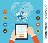 template social network...   Shutterstock .eps vector #726899077