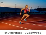 runner sprinting towards... | Shutterstock . vector #726899953