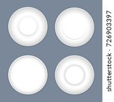 set of four simple ceramic...   Shutterstock .eps vector #726903397