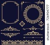 vintage vector set. floral... | Shutterstock .eps vector #726904777