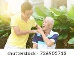 asian old man shoulder pain ... | Shutterstock . vector #726905713