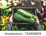 organic vegetables. farmers... | Shutterstock . vector #726908893