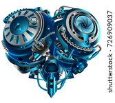 complex mechanical heart... | Shutterstock .eps vector #726909037