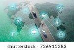 smart transportation and... | Shutterstock . vector #726915283