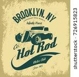 vintage hot rod vector logo... | Shutterstock .eps vector #726915823