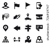 16 vector icon set   pointer ... | Shutterstock .eps vector #726919747