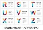vector alphabet infographic ... | Shutterstock .eps vector #726920197