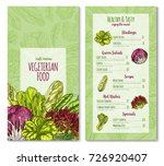 salads and lettuce vegetables... | Shutterstock .eps vector #726920407