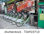 Small photo of Bangkok, Thailand - September 12, 2017: ditch your car and get peddling in the city with Bangkokâ??s first full-scale bicycle system, the Pun Pun bike sharing scheme.