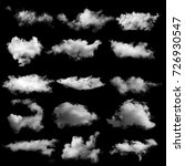 clouds on black background | Shutterstock . vector #726930547