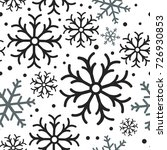 snowflake simple seamless... | Shutterstock .eps vector #726930853