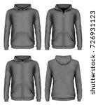 men's hooded sweatshirt and zip ... | Shutterstock .eps vector #726931123
