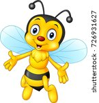 cartoon happy bee isolated on... | Shutterstock .eps vector #726931627