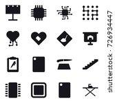 16 vector icon set   billboard  ... | Shutterstock .eps vector #726934447